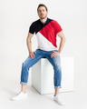 Tommy Hilfiger Diagonal Colorblock Polo Tricou