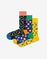 Happy Socks Happy Birthday Set de 3 perechi de șosete